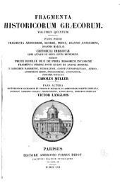 Fragmenta historicorum gra︠e︡corum ...