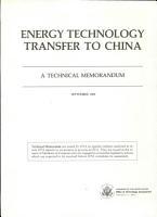 Energy Technology Transfer to China PDF