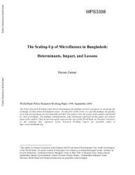 The Scaling Up Of Microfinance In Bangladesh Book PDF