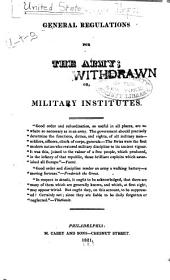 General Regulations for the Army: Or, Military Institutes