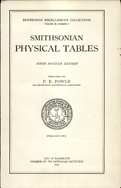 Smithsonian physical tables: Volume 58