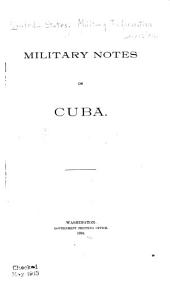 Military Notes on Cuba