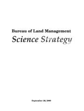 Bureau of Land Management science strategy
