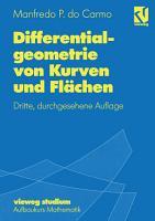 Differentialgeometrie von Kurven und Fl  chen PDF