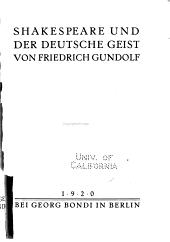 Shakespeare und der deutsche Geist