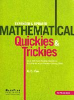 Mathematical Quickies   Trickies PDF