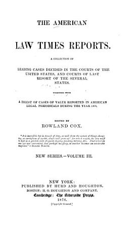 The American Law Times Reports PDF