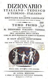 Dizionario italiano-tedesco e tedesco-italiano: Band 1