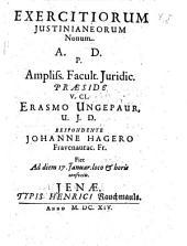 Exercitia Iusitianea: Volume 9