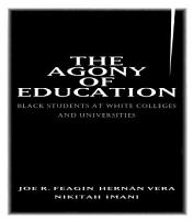 The Agony of Education PDF