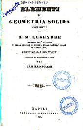 Elementi di geometria solida con note A. M. Legendre