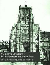 Mémoires. Documents inédits concernant la province: Volume 9