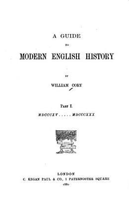 A Guide to Modern English History PDF