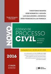 C  DIGO DE PROCESSO CIVIL E LEGISLA    O PROCESSUAL EM VIGOR   2016 PDF