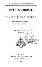 Lettres choisies du XVIIIe siècle