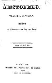 Aristodemo: tragedia española