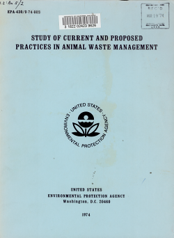 Study of Current and Proposed Practices in Animal Waste Management PDF