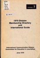 Division Membership Directory and International Guide PDF