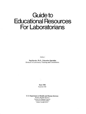 Guide to Educational Resources for Laboratorians