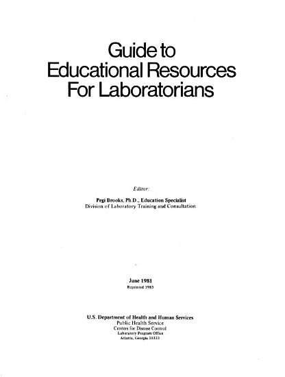 Guide to Educational Resources for Laboratorians PDF