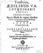 Tonstrina aedilibus Valetudinarii poetici ... locata Tubingae