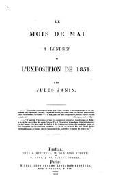Le Mois de Mai à Londres, et l'Exposition de 1851