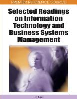 Selected Readings on Information Technology and Business Systems Management PDF