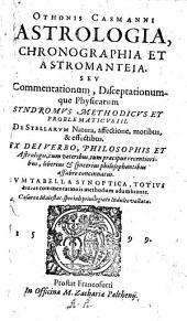 Astrologia, Chronographia