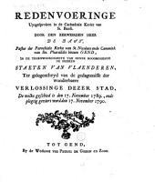 Redenvoering uytgesproken in de cathedrale kerke van St. Baefs, door den eerweirden heer de Bast, [...] in de tegenwoordigheyd van hunne hoogmogende de heeren Staeten van Vlaenderen, ter gelegentheyd van de gedachtenisse der wonderbaere verlossing dezer stad, de welke geschied is den 17. november 1789., ende plegtig geviert word den 17. november 1790