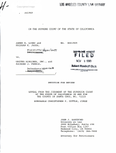 California. Supreme Court. Records and Briefs: S018203, Petition for Review