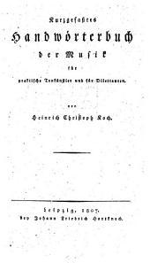 Kurzgefaßtes Handwörterbuch der Musik