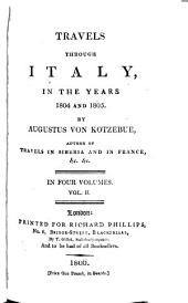 Travels Through Italy, in the Years 1804 and 1805: Volume 2