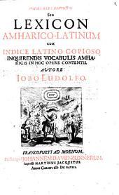 Lexicon Amharico-latinum
