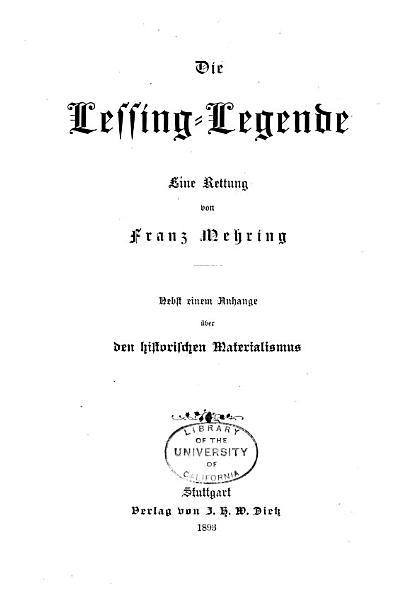 Die Lessing Legende