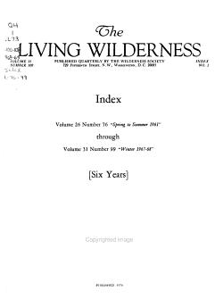 The Living Wilderness PDF