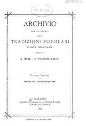 Archivio per lo studio delle tradizioni popolari: Volume 7
