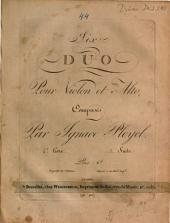 Six duo pour violon et alto: 4e livre. Duo 1 - 3, Volume 1