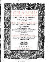 Ioannis Vaudi, Pedemontani ciuilis prudentiae candidati Variarum quaestionum libri duo ... His accessit Antonij Contij, ic. clariss. Disputationum iuris ciuilis liber I.