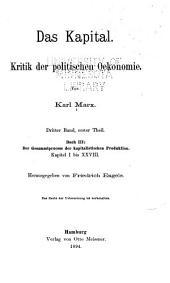 Das Kapital: Kritik der politischen Oekonomie, Band 3