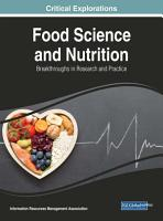 Food Science and Nutrition  Breakthroughs in Research and Practice PDF