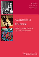 A Companion to Folklore PDF