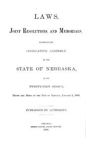 Laws Passed by the Legislature of the State of Nebraska
