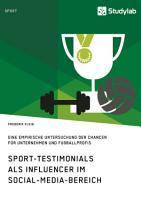Sport Testimonials als Influencer im Social Media Bereich PDF