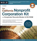 The California Nonprofit Corporation Kit PDF