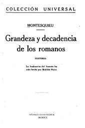 Grandeza y decadencia de los romanos: historia