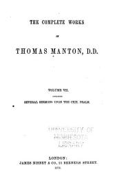 The Complete Works of Thomas Manton, D.D.: With Memoir of the Author, Volume 7
