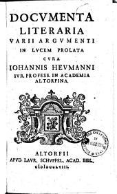 Docvmenta Literaria Varii Argvmenti