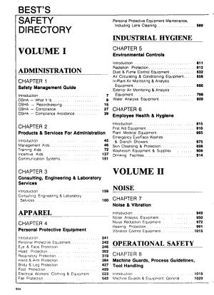 Best's Safety Directory