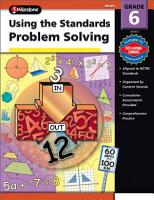 Using the Standards   Problem Solving  Grade 6 PDF