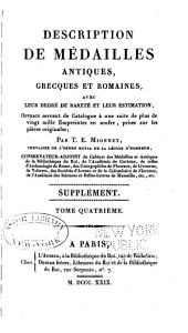 Description de medailles antiques, etc: Supplement, Volume 4